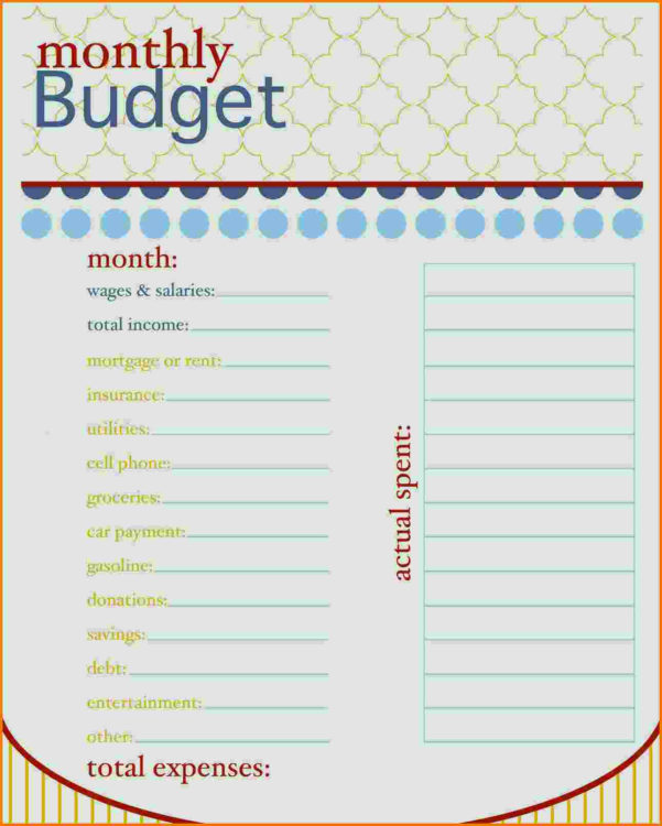 Free Budget Spreadsheet Printable Pertaining To Daily Income And Expense Excel Sheet Tracking Spreadsheet  Free