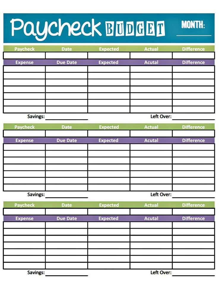Free Budget Spreadsheet Printable Throughout Free Printable Budget Worksheet Template Get Paid Weekly And Charlie