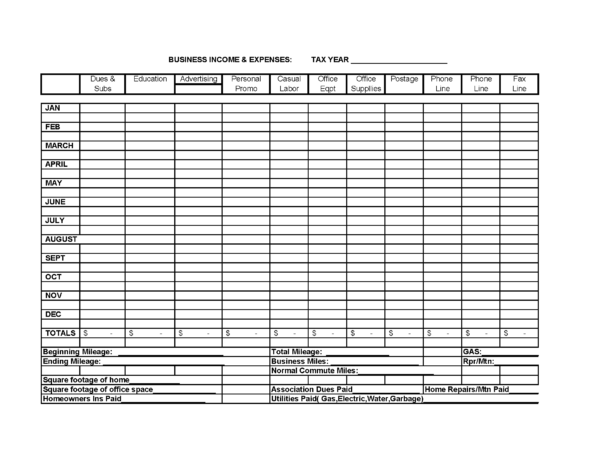Free Business Income And Expense Spreadsheet Regarding Excel Spreadsheet For Small Business Income And Expenses