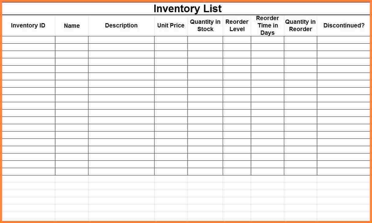 Free Business Inventory Spreadsheet Within Small Business Inventory Spreadsheet Template Stock Portfolio Sample