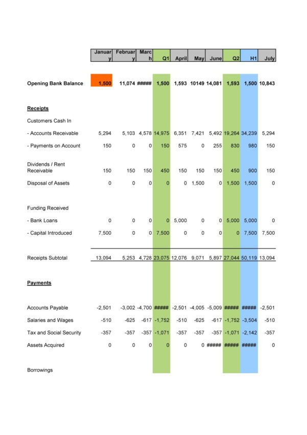 Free Cash Flow Spreadsheet In 40  Free Cash Flow Statement Templates  Examples  Template Lab