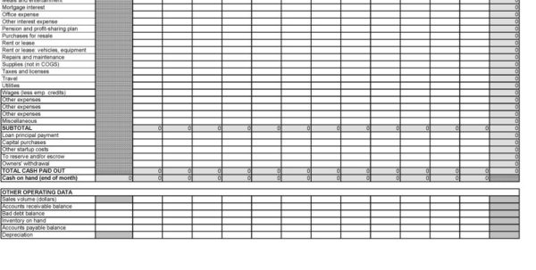 Free Cash Flow Spreadsheet Within 40  Free Cash Flow Statement Templates  Examples  Template Lab
