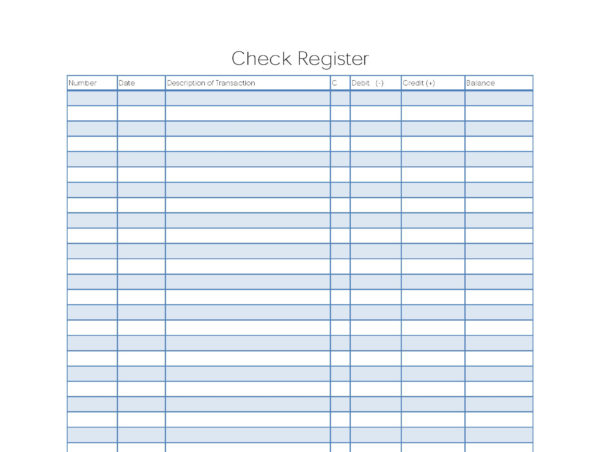 Free Checking Account Spreadsheet Pertaining To Free Checkbook – The Newninthprecinct