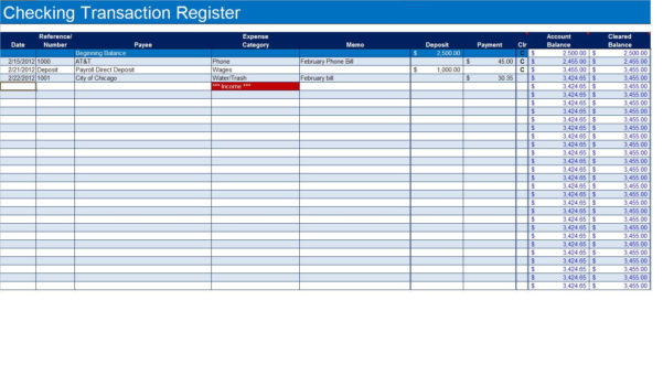 Free Checking Account Spreadsheet With How To Create A Checkbook Register In Excel  Turbofuture