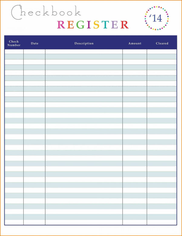 Free Checking Account Spreadsheet Within 013 Excel Spreadsheet Budget Dashboard Check Register Template