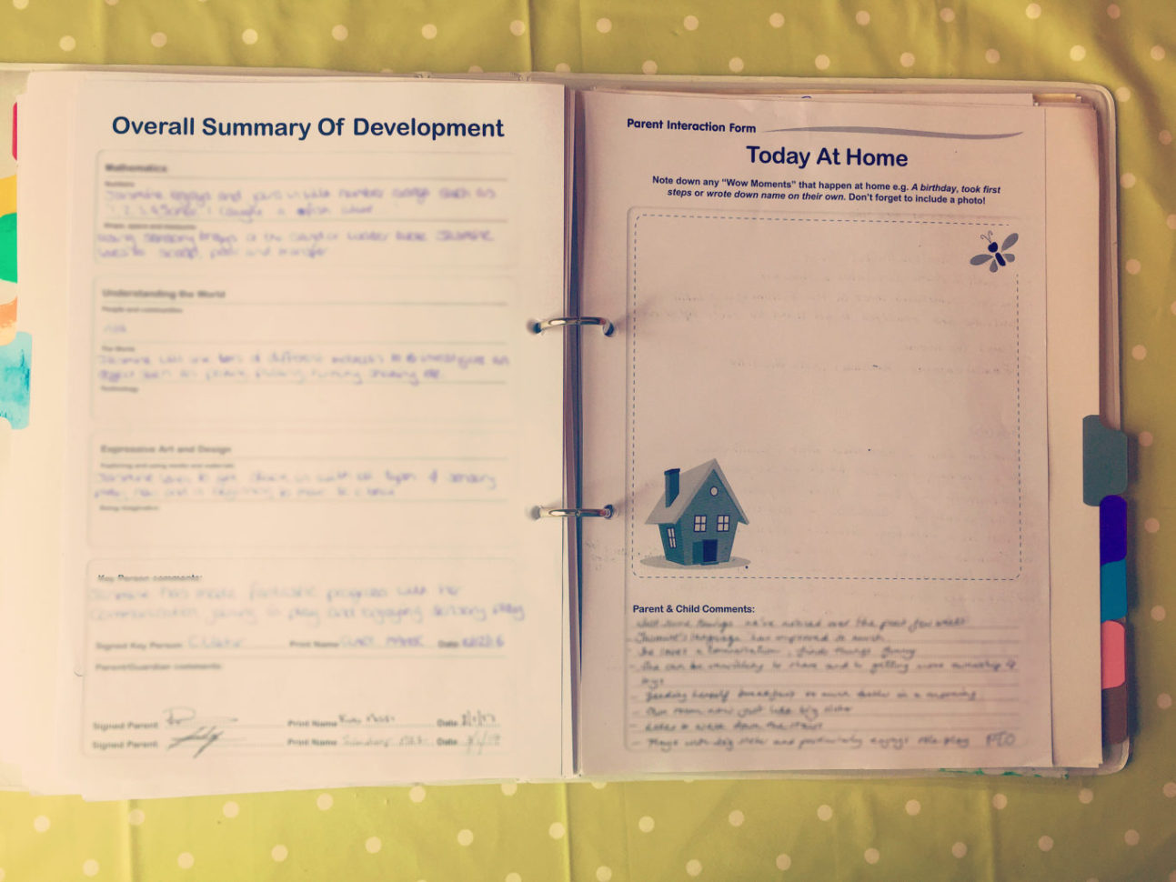 Free Childminding Accounts Spreadsheet Intended For How I Organise My Learning Journeys  Clare's Little Tots