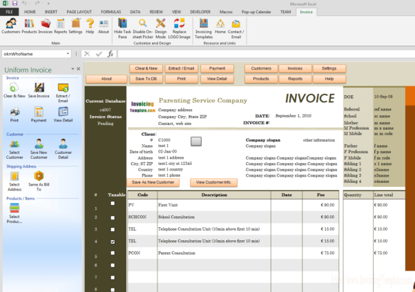 Free Childminding Accounts Spreadsheet Pertaining To Child Care Billing Template