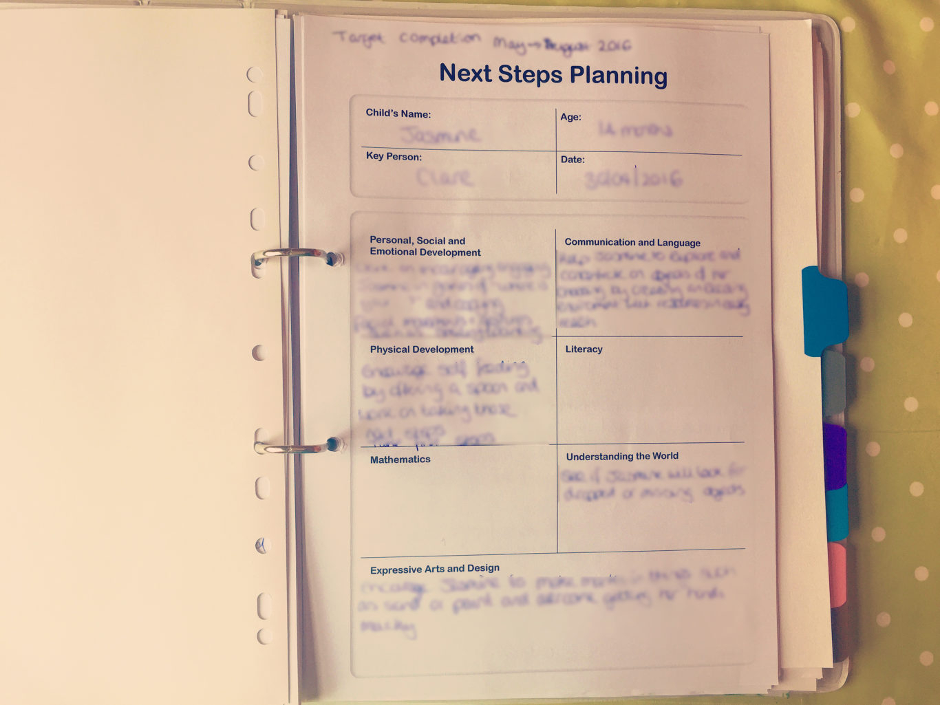 Free Childminding Accounts Spreadsheet Within How I Organise My Learning Journeys  Clare's Little Tots