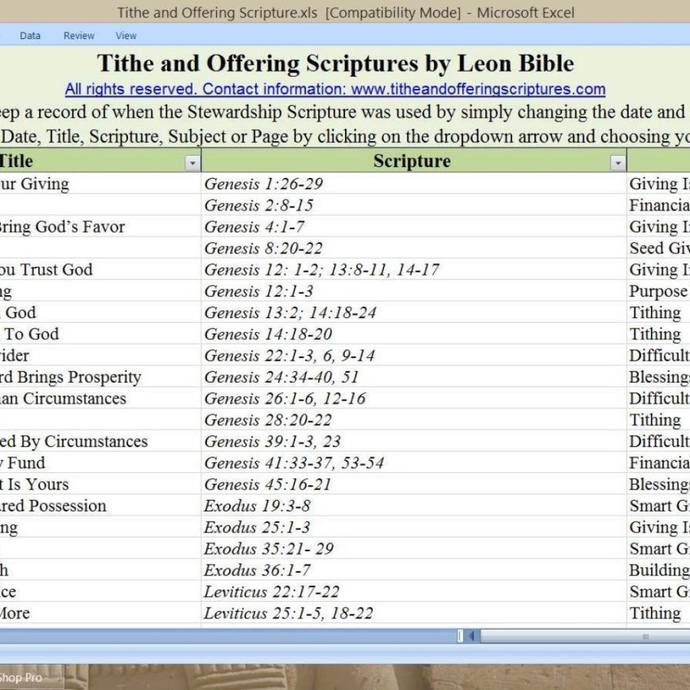 Free Church Contribution Spreadsheet Inside Free Church Tithe And Offering Spreadsheet With Keeping Track Of