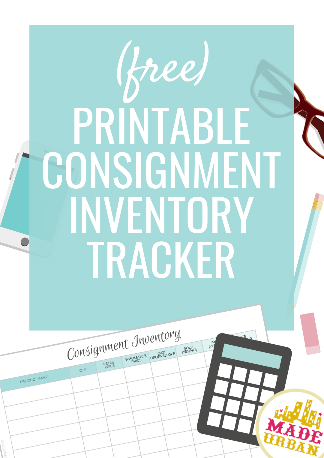Free Consignment Inventory Tracking Spreadsheet Inside Consignment Inventory Tracking Spreadsheet  Made Urban