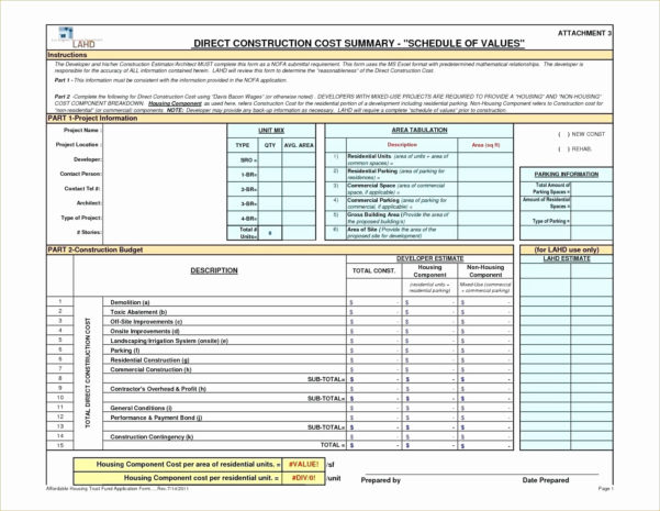 Free Construction Spreadsheet In Free Construction Schedule Spreadsheet Or Construction Estimate