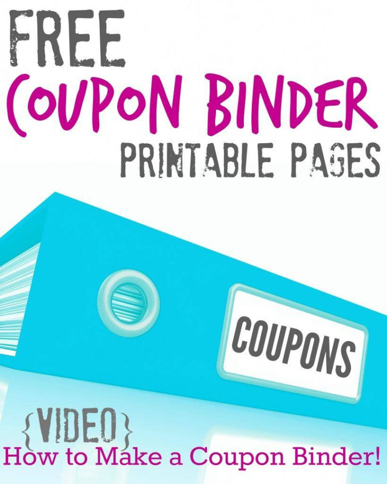 Free Coupon Organizer Spreadsheet Pertaining To Free Printable Coupon Binder Pages!!!  Passion For Savings