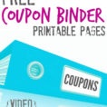 Free Coupon Spreadsheet Throughout Free Printable Coupon Binder Pages!!!  Passion For Savings