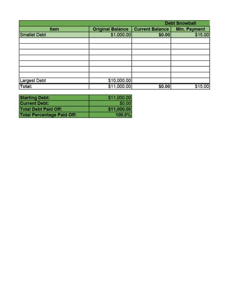Free Debt Snowball Spreadsheet Inside 38 Debt Snowball Spreadsheets, Forms  Calculators ❄❄❄