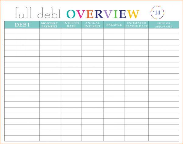 Free Debt Snowball Spreadsheet Regarding Free Debt Snowball Spreadsheet Luxury Credit Card Bud Dsheet Debt