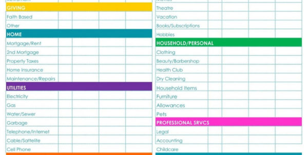 Free Download Budget Spreadsheet Throughout Free Download Budget Spreadsheet Monthlybudgetform Monthly Home