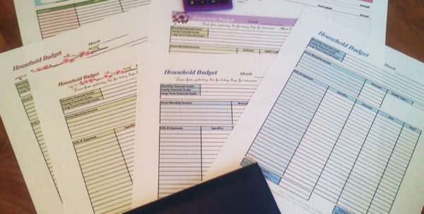 Free Download Household Budget Spreadsheet Inside Free Printable Budget Worksheets