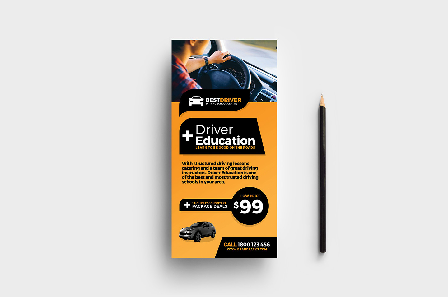 Free Driving Instructor Accounts Spreadsheet For Free Driving School Poster  Rack Card Template  Psd, Ai  Vector