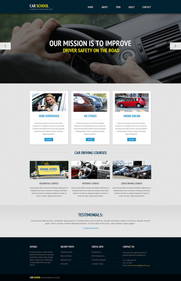 Free Driving Instructor Accounts Spreadsheet Intended For 20  Best Driving School Website Templates  Free  Premium Templates