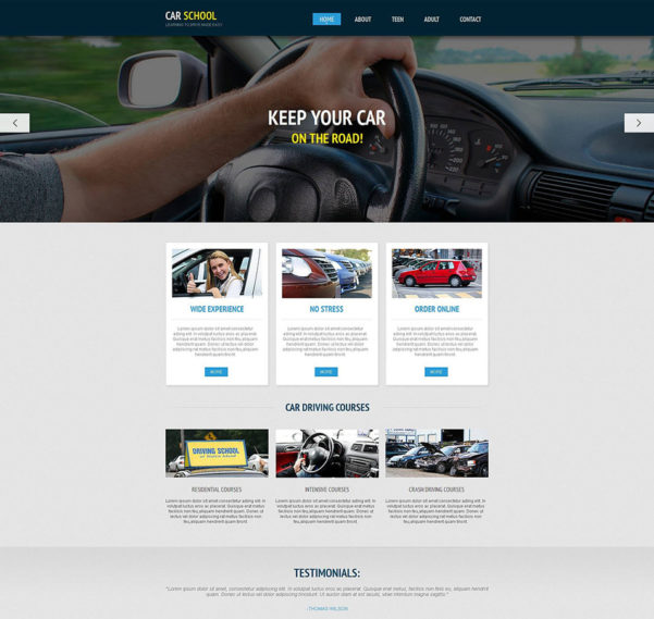 Free Driving Instructor Accounts Spreadsheet Throughout 20  Best Driving School Website Templates  Free  Premium Templates