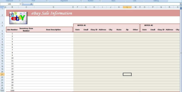Free Ebay Accounting Spreadsheet With Free Spreadsheet For Ebay Sales Ebay Spreadsheet Template