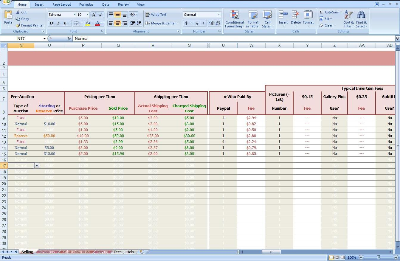 Free Ebay Accounting Spreadsheet Within Free Ebay Accounting Spreadsheet Bookkeeping Excel Spreadsheets