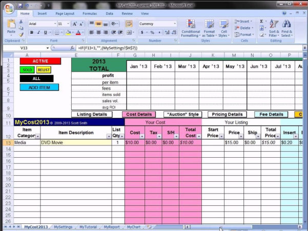 Free Ebay Inventory Spreadsheet Template Intended For Ebay Inventory Spreadsheet Free Template Excel Invoice Best