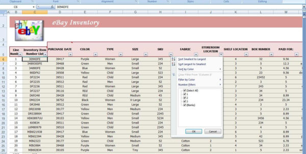 Free Ebay Inventory Spreadsheet Template Regarding Free Inventory Spreadsheet Template 132940 4 Example Excel Product
