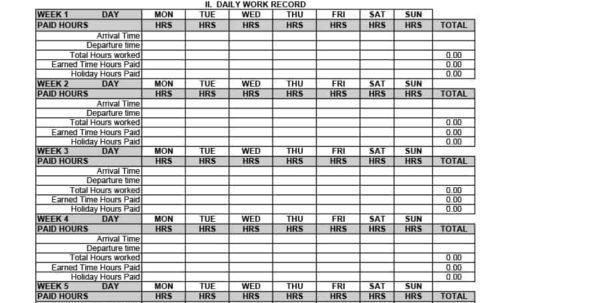 Free Employee Attendance Tracking Spreadsheet Pertaining To 40  Free Attendance Tracker Templates [Employee, Student, Meeting]