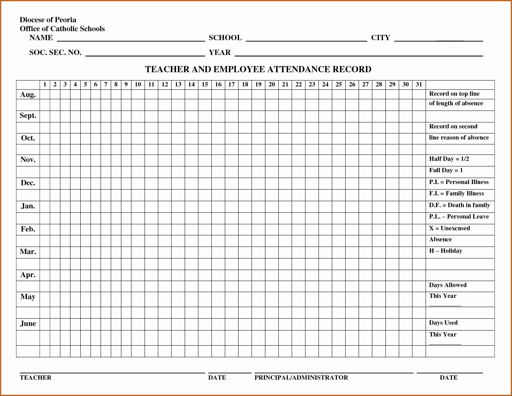 Free Employee Attendance Tracking Spreadsheet Throughout Employee Attendance Records Briliant Employee Attendance Record