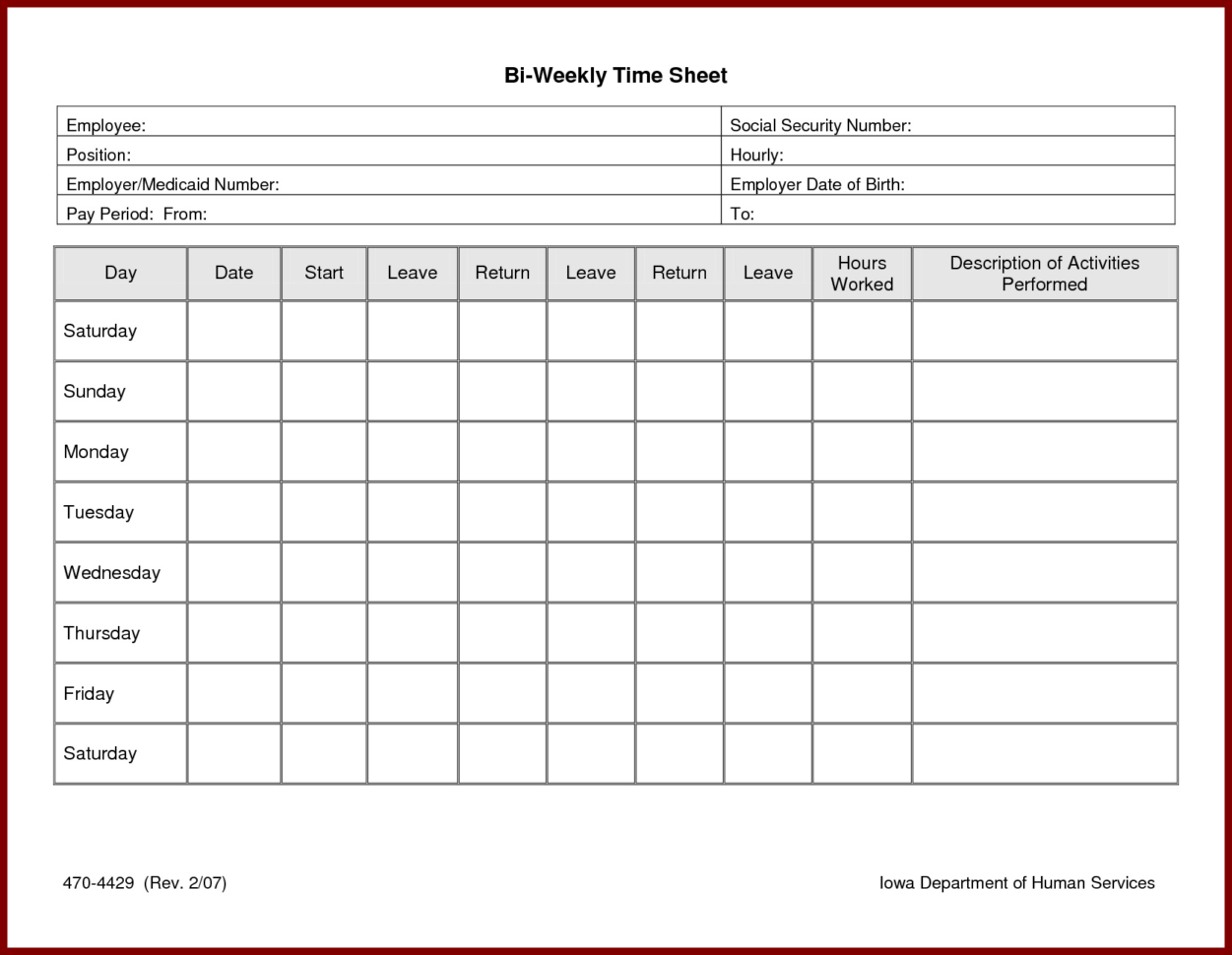 Free Employee Time Tracking Spreadsheet For Daily Timesheet Excel Template  My Spreadsheet Templates