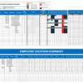 Free Employee Vacation Tracking Spreadsheet Template Inside Employee Vacation Template  Kasare.annafora.co