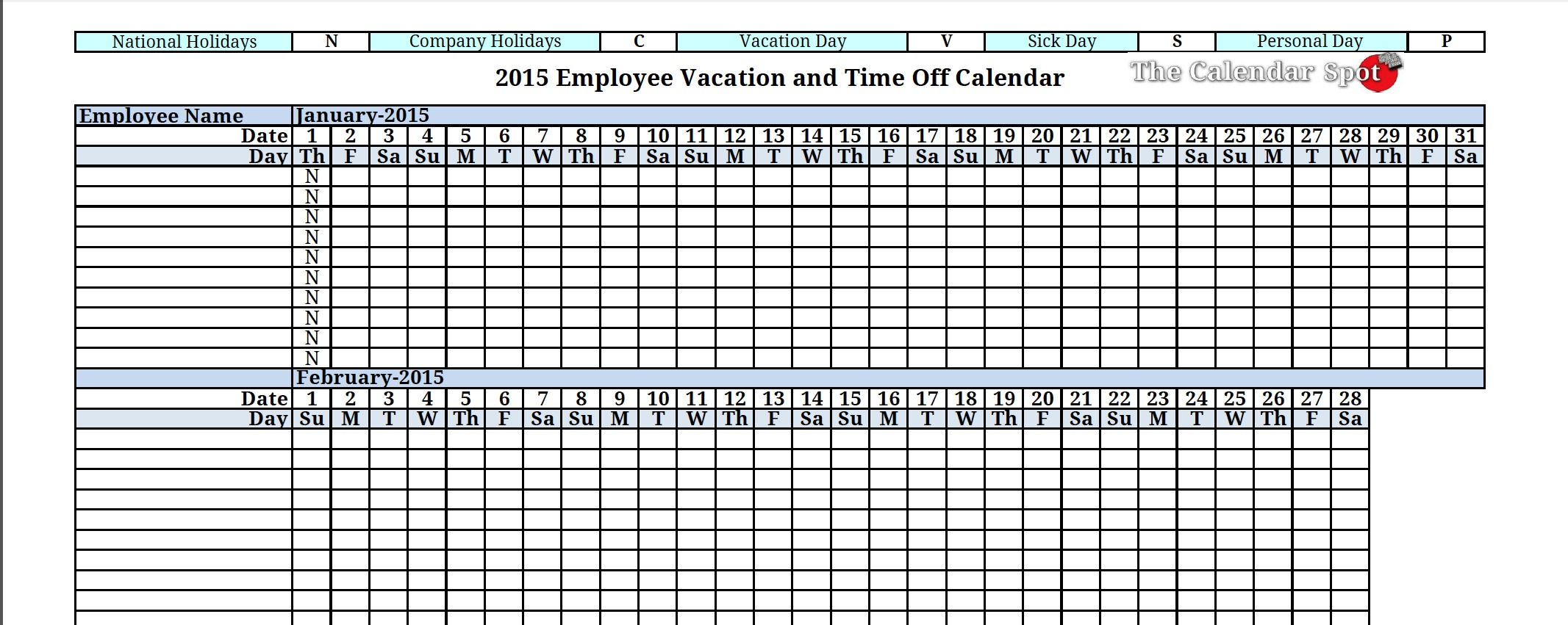 Free Employee Vacation Tracking Spreadsheet Template With Employee Vacation Template  Kasare.annafora.co