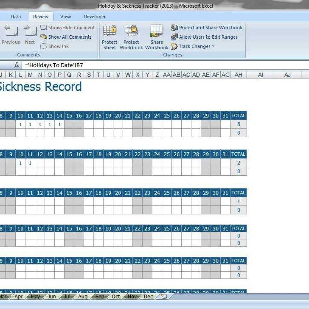 Free Employee Vacation Tracking Spreadsheet Template With Vacation Tracking Spreadsheet And Free Template With Employee