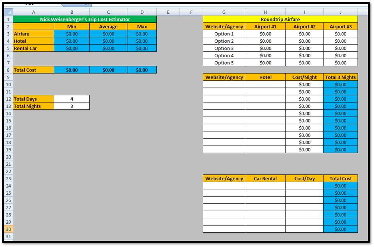 Free Estimating Spreadsheet Pertaining To Free Estimating Spreadsheet Template And Project Cost Estimating