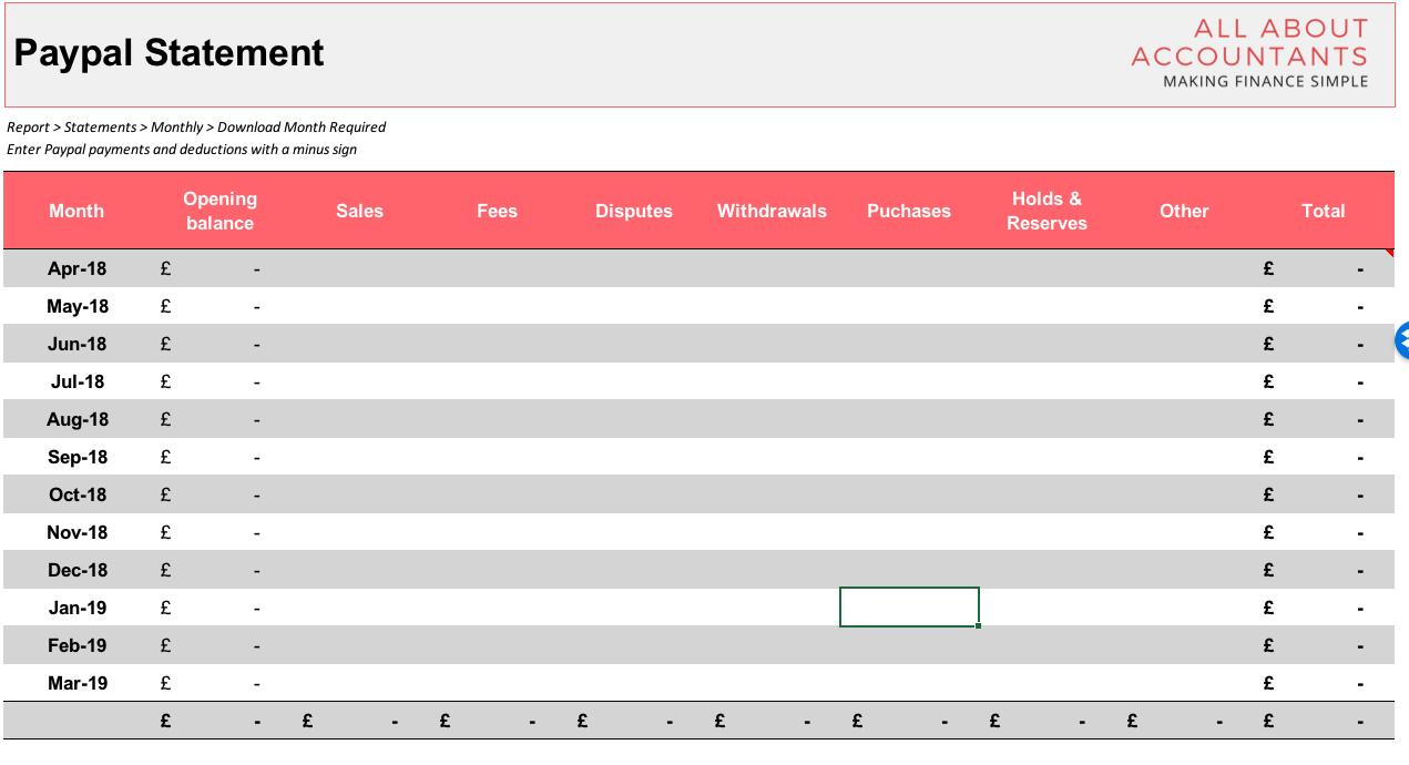 Free Etsy Bookkeeping Spreadsheet Throughout Etsybookkeepingspreadsheetscreenshot5  Go Self Employed