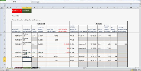 Free Excel Accounting Spreadsheet In Small Business Bookkeeping Templates For Spreadsheet Bookkeeping