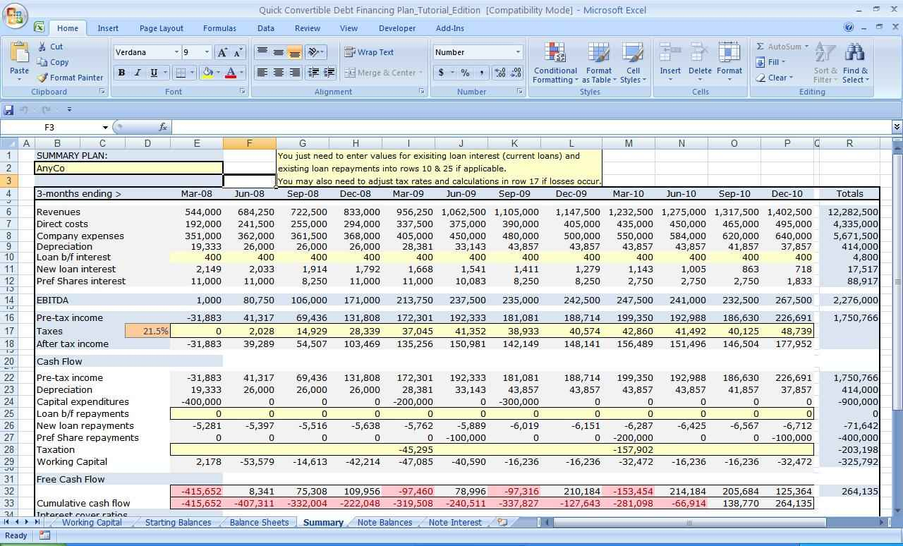 Free Excel Business Valuation Spreadsheet Within Business Valuation Spreadsheet Template And Free Excel Business