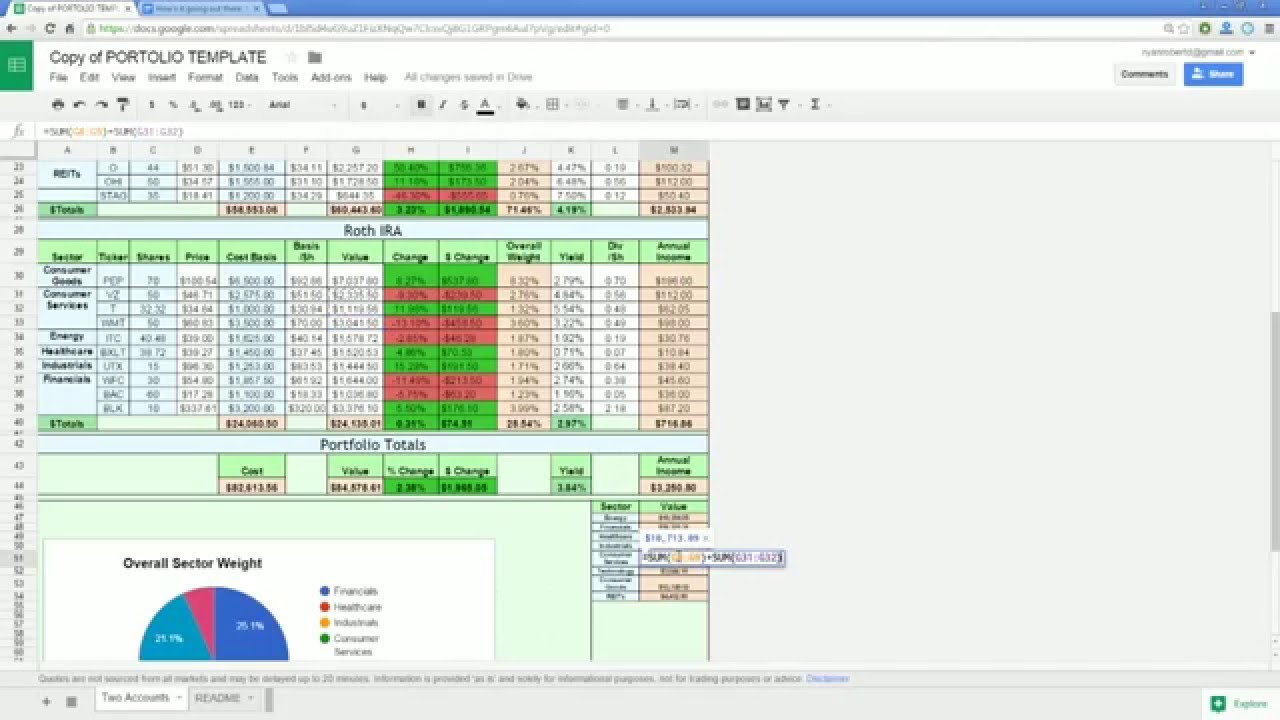 Free Excel Stock Tracking Spreadsheet With Portfolio Tracking Spreadsheet Dividend Stock Tracker With