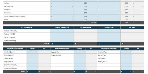 Free Excel Type Spreadsheet Intended For Free Pay Stub Templates Smartsheet Organization Template Excel