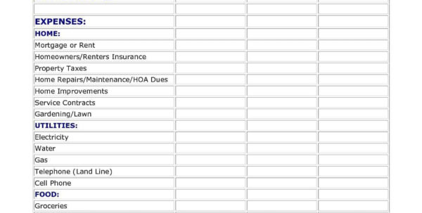 Free Family Budget Spreadsheet Download Pertaining To Easy Family Budget Worksheet And Family Budget Worksheet Free