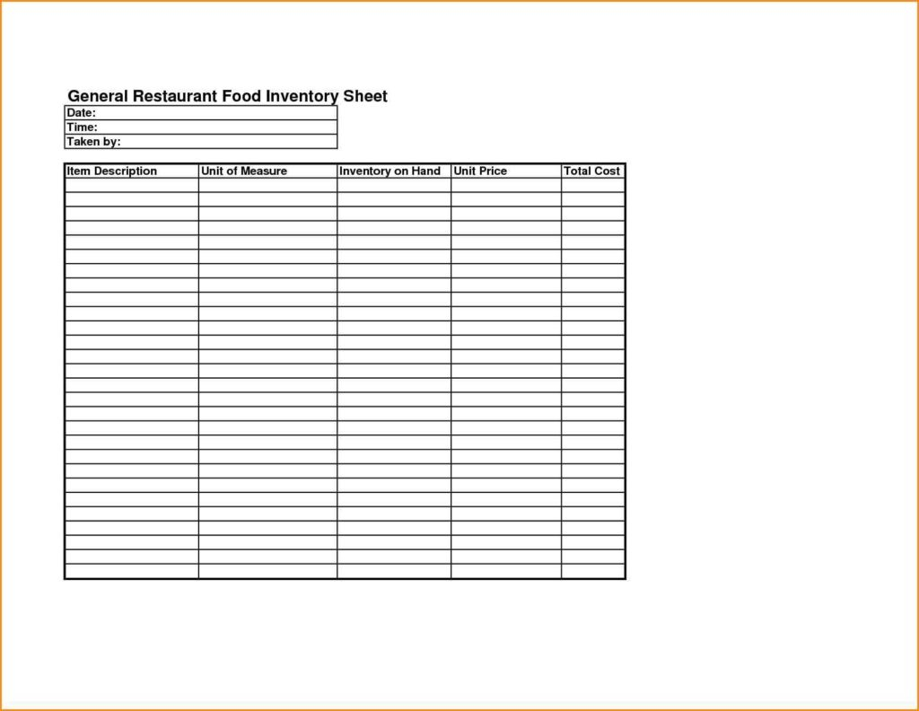 Free Food Inventory Spreadsheet Template Intended For Free Bar Inventory Spreadsheet And Restaurant Inventory Spreadsheet