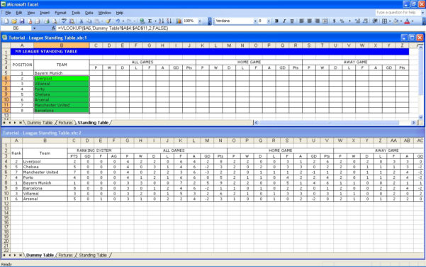 Free Football Pontoon Spreadsheet In Create Your Own Soccer League Fixtures And Table  Excel Templates