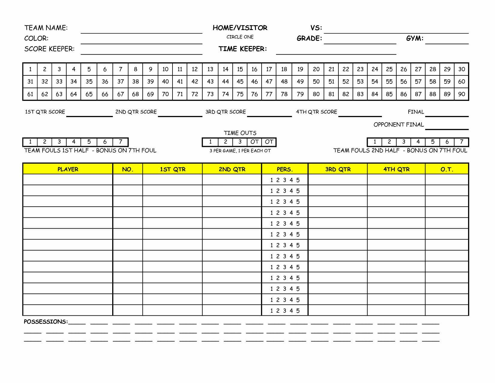 This is a picture of Declarative Printable Golf Stat Sheet