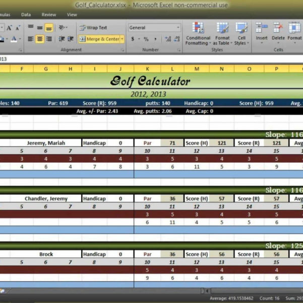 Free Golf Stat Tracker Spreadsheet Intended For Golf Stat Tracker Spreadsheet Stats Excel Best Of Score Tracking