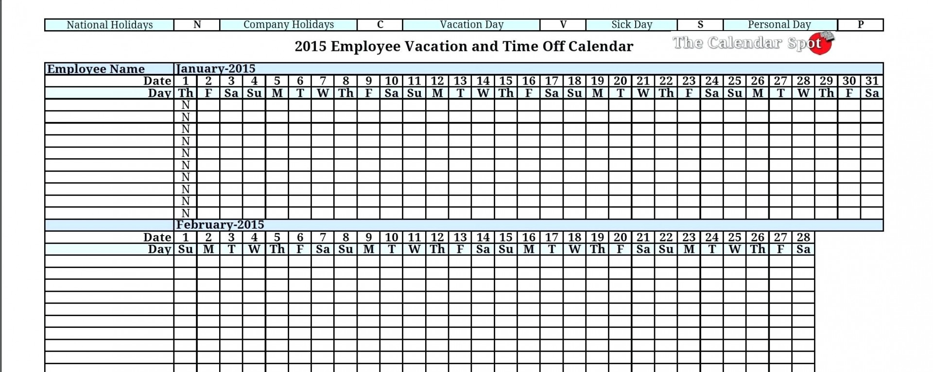 Free Holiday Spreadsheet For 023 Template Ideas Employee Vacation Planner Accrual Spreadsheet
