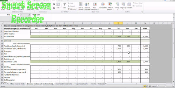 Free Home Accounts Spreadsheet Inside How To Use Free Household Budget Spreadsheet Inl Youtube Worksheet
