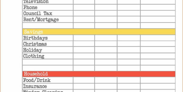 Free Home Accounts Spreadsheet Regarding Free Home Budget Spreadsheet And Personal Investment Plan Template