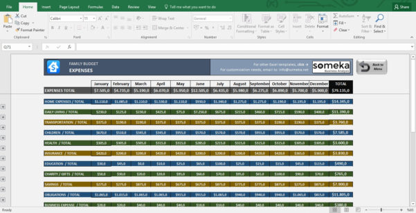 Free Household Budget Excel Spreadsheet Template With Regard To Family Budget Excel Budget Template For Household And Spreadsheet