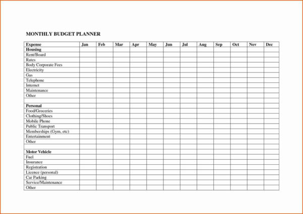 Free Household Expenses Spreadsheet Inside Spreadsheet For Monthly Expenses Or Monthly Expenses Spreadsheet